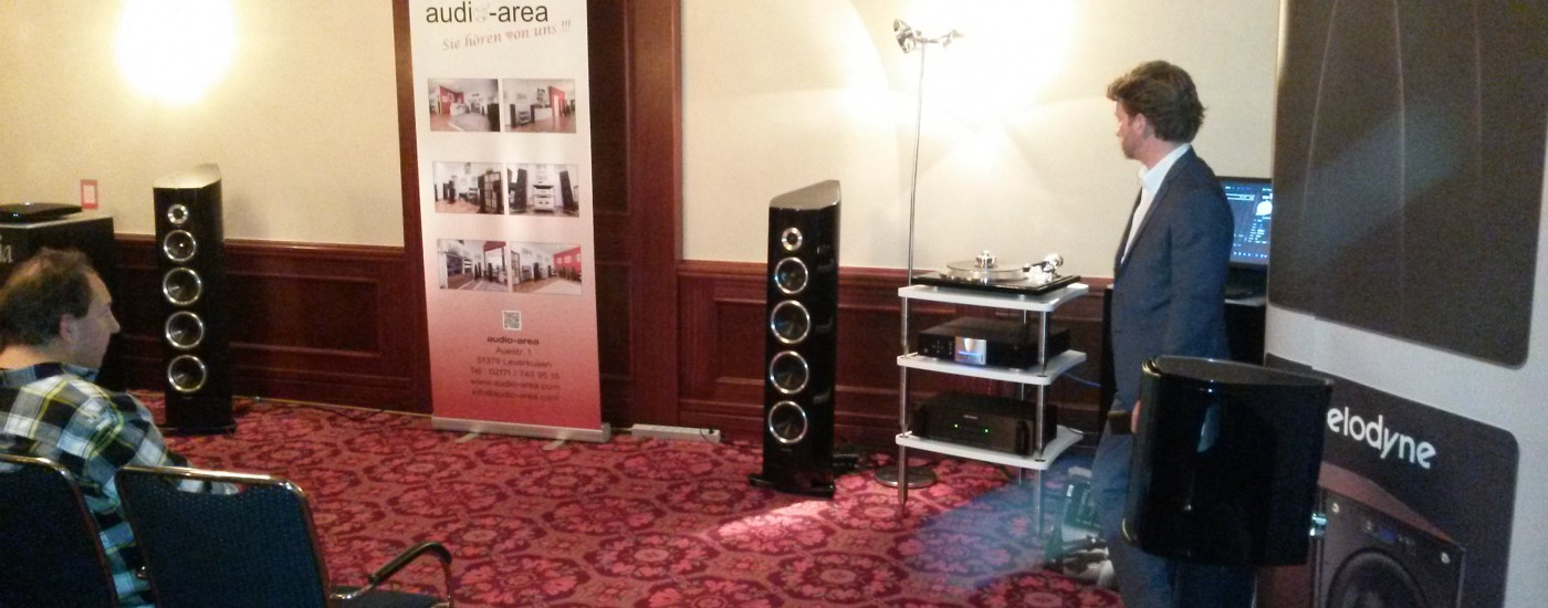 Westdeutsche HiFi-Tage 2015, audio-area, Audio Reference, Sonus faber Venere S, Bassocontinuo, KRELL Vanguard, Audio Research PH 6